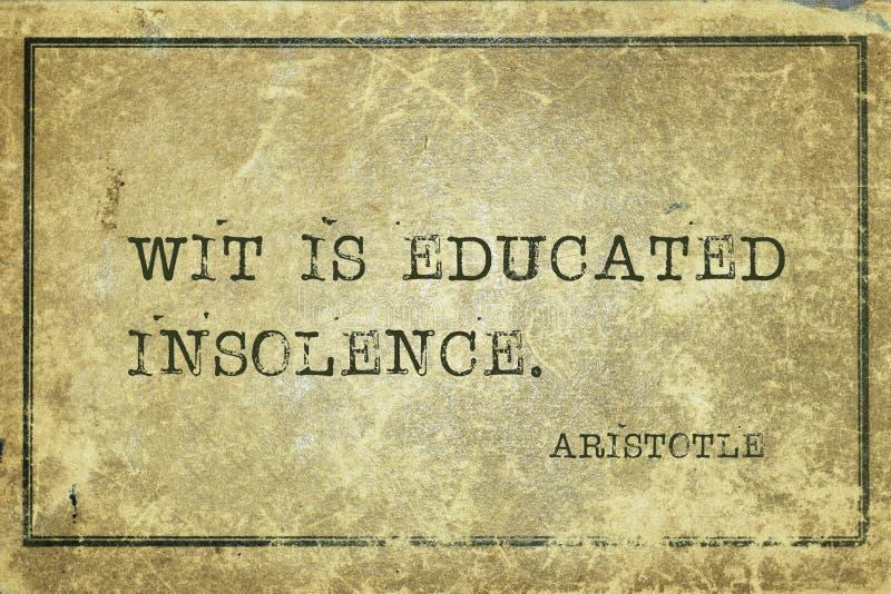 A sagacidade é Aristotle foto de stock royalty free
