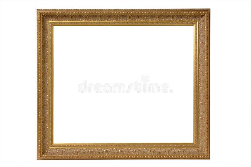 Sagacidade antiga do quadro de retrato do ouro imagens de stock