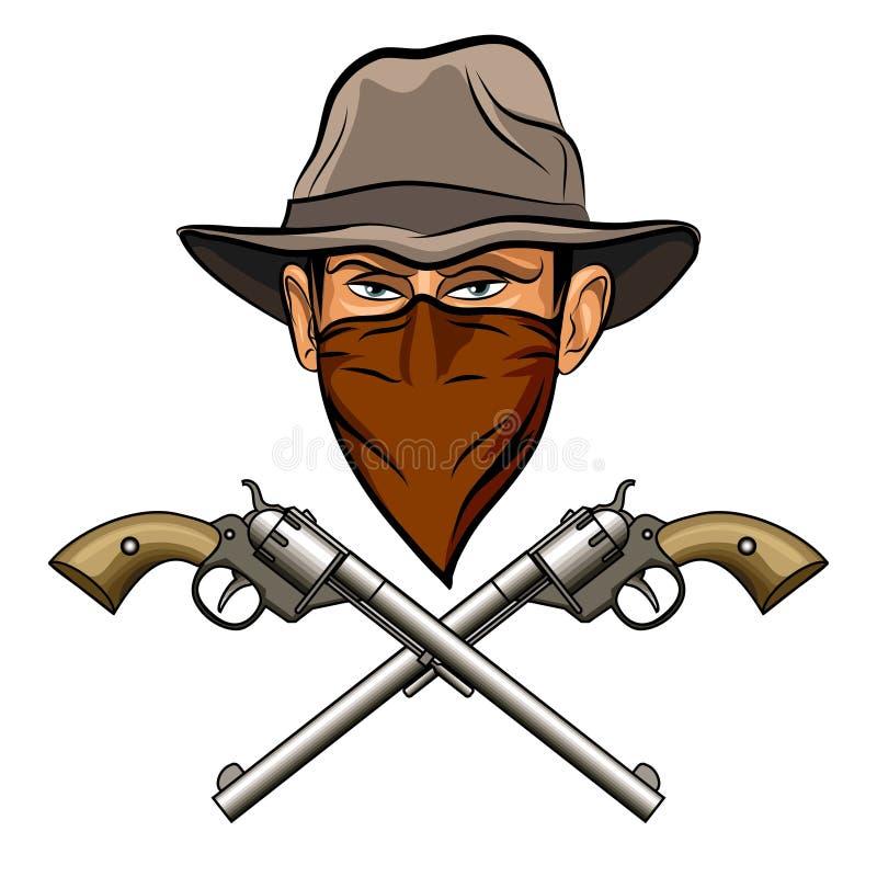 Sagacidade do bandido armas ilustração do vetor
