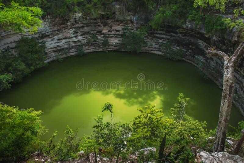 Sagado Cenote stockfotos
