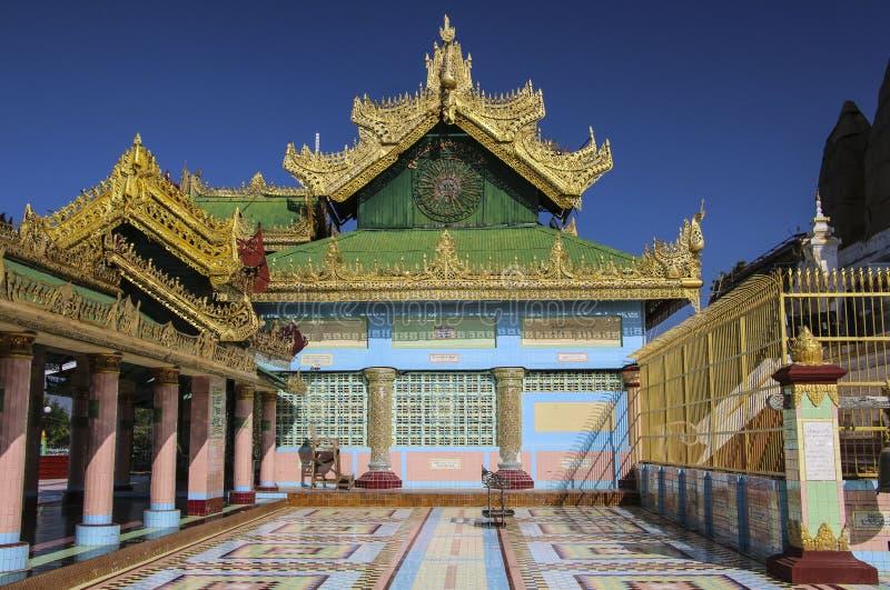 SAGAING, MYANMAR - 8 DE DEZEMBRO DE 2016: Logo pagod de Oo Pon Nya Shin imagem de stock royalty free