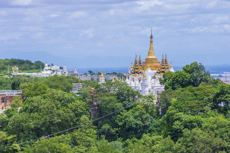 Sagaing Pagoda Myanmar royalty free stock image