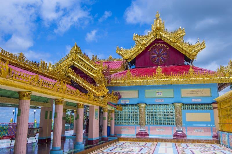 Sagaing pagoda Myanmar fotografia royalty free