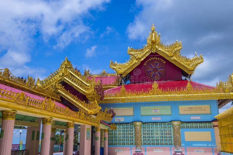 Sagaing pagoda Myanmar obrazy royalty free