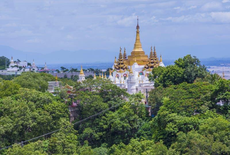 Sagaing pagoda Myanmar obraz stock