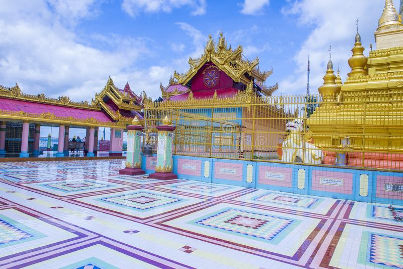 Sagaing pagoda Myanmar zdjęcia stock