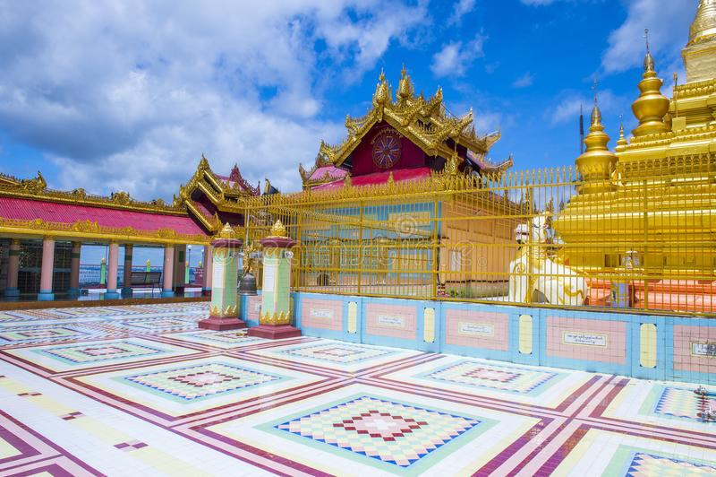 Sagaing pagoda Myanmar zdjęcia royalty free