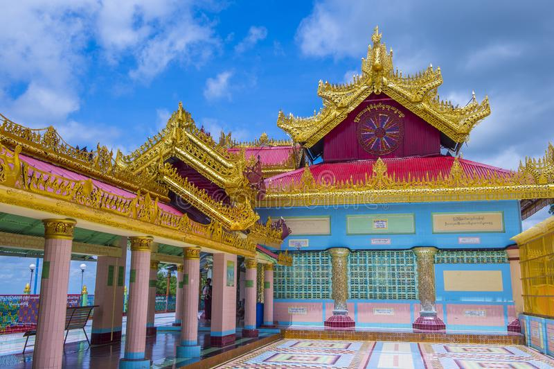 Sagaingspagode Myanmar royalty-vrije stock fotografie
