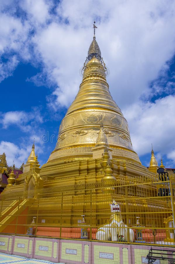 Sagaingspagode Myanmar stock afbeelding