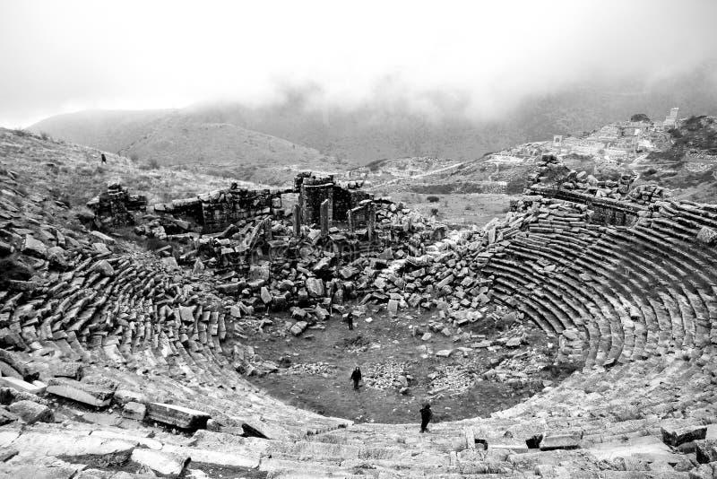 Sagalassos剧院 免版税库存照片
