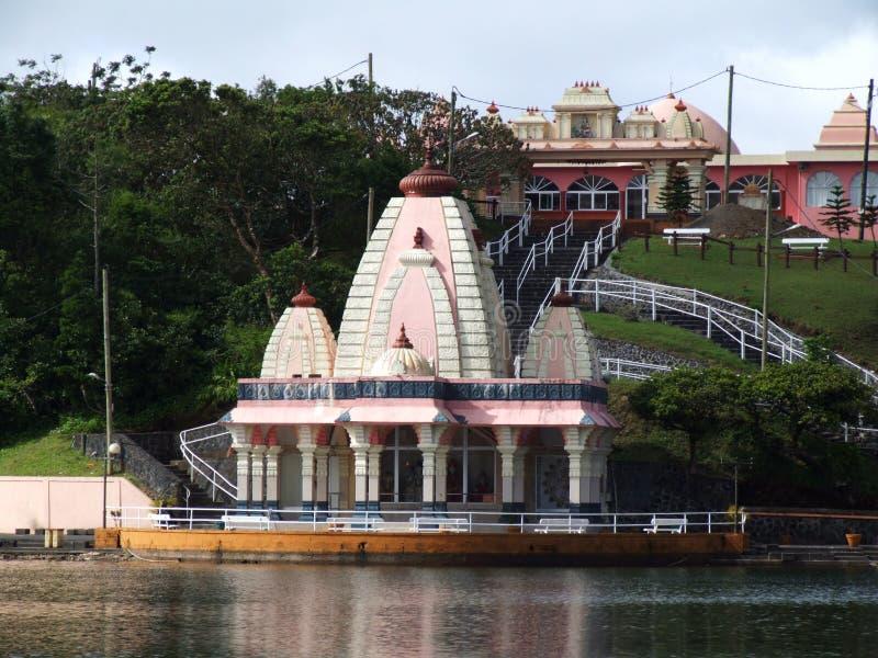 Sagar Shiv Mandir, Ganga Talao, Mauritius lizenzfreies stockbild