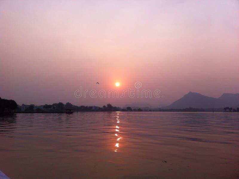 Sagar zonsondergang fateh royalty-vrije stock afbeeldingen