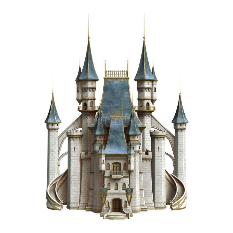 Sagaslott royaltyfri illustrationer
