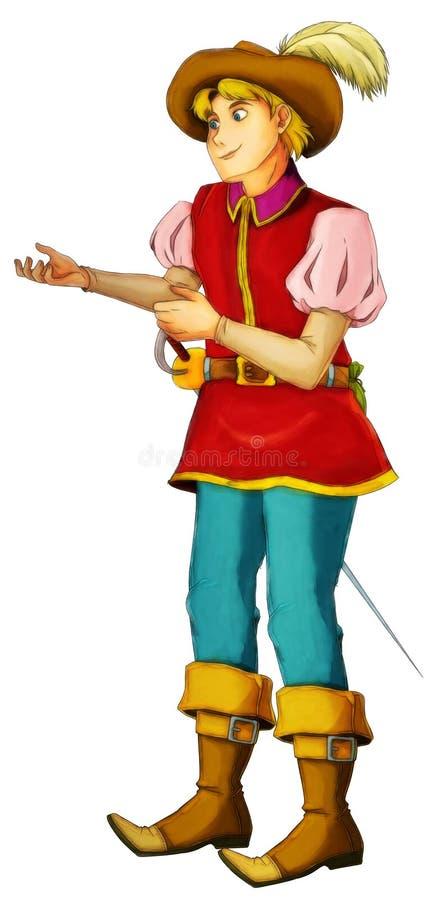 Sagatecknad filmtecken - illustration för barnen vektor illustrationer