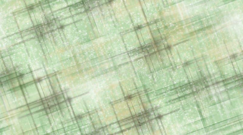 Sage Green und Brown-Linien und -sterne stock abbildung