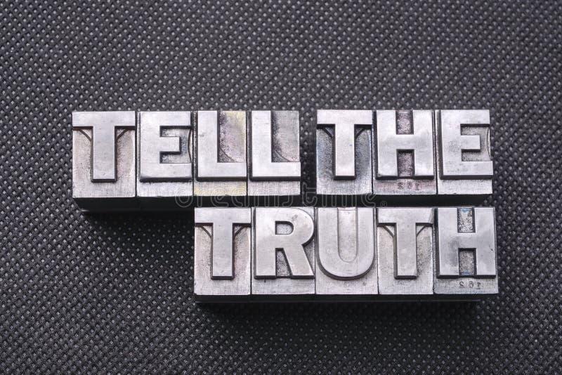 Sagen Sie dem Wahrheitsschwerpunktshandbuch lizenzfreies stockfoto