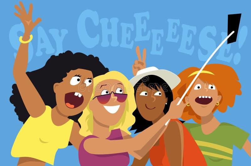 Sagen Sie Käse! stock abbildung