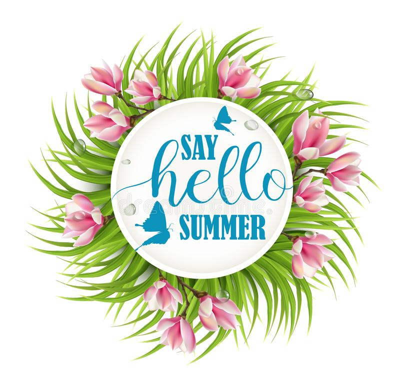 Sagen Sommer Guten Tag stock abbildung