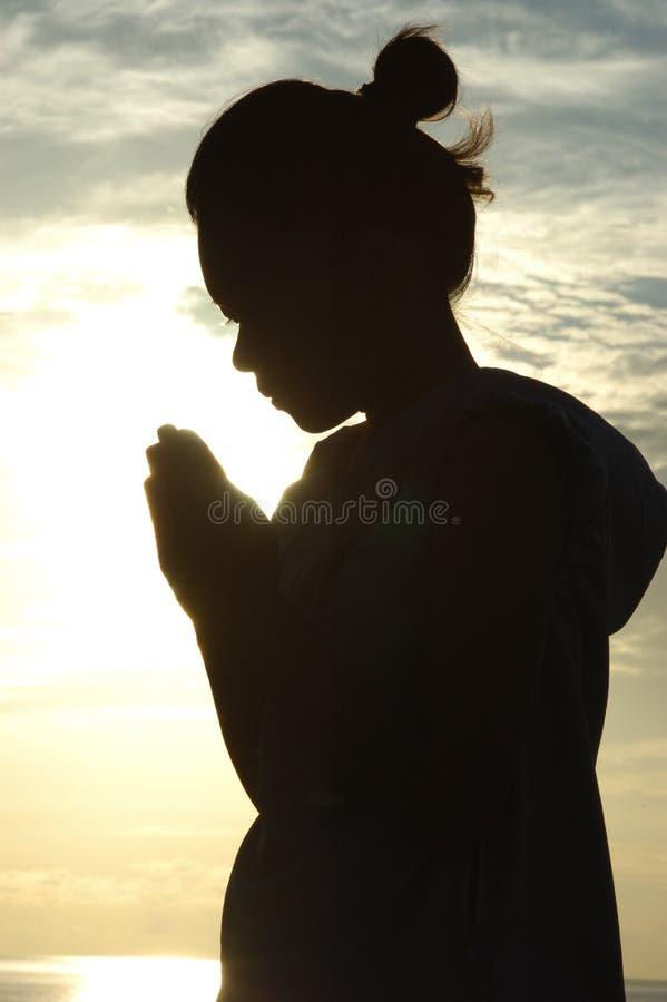 Sagen von Gebeten lizenzfreie stockfotografie