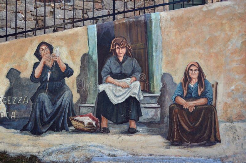 Sagesse antique de peintures murales images libres de droits