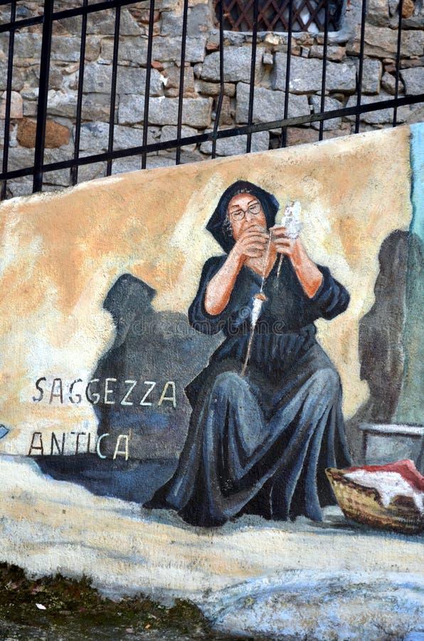 Sagesse antique de peintures murales photographie stock libre de droits
