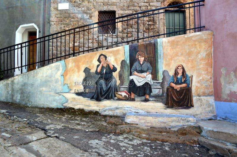 Sagesse antique de peintures murales photo stock