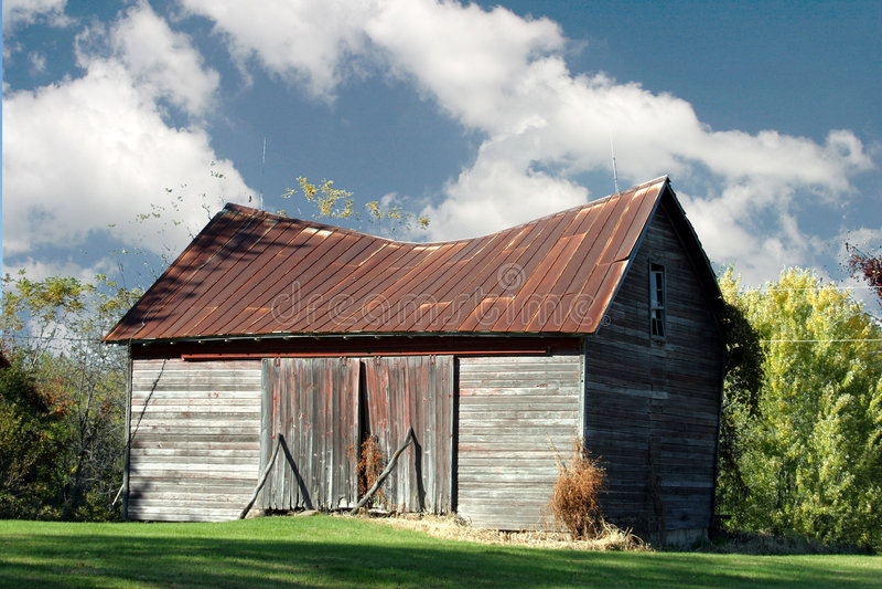 Sagging barn royalty free stock photography
