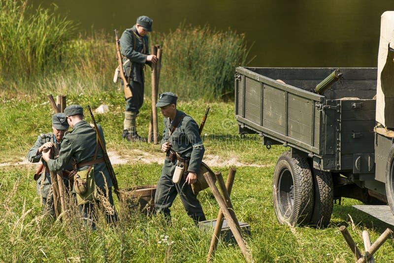 Sagittarian equip the line of defense stock photo