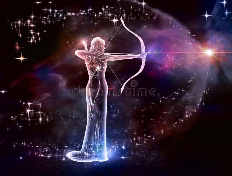 Sagittario Archer royalty illustrazione gratis
