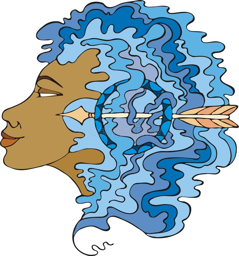 Download Sagittarius stock vector. Image of earlaps, curls, fine - 11828344