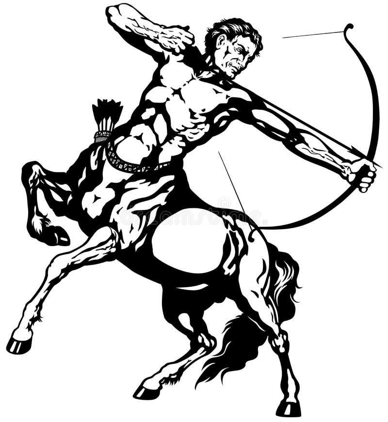 sagittarius royalty illustrazione gratis