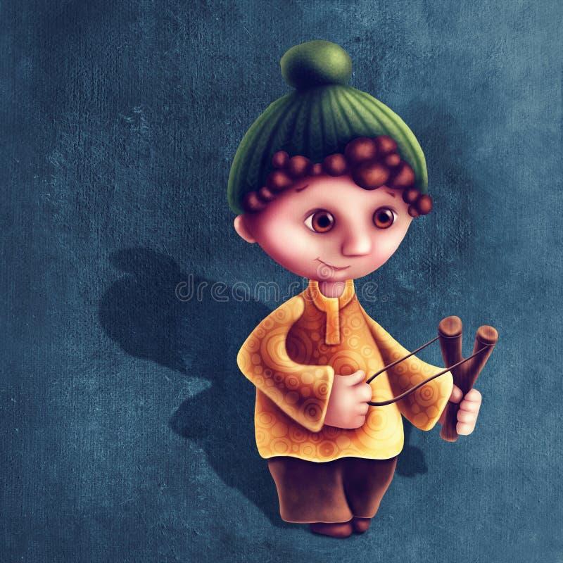 Sagittarius astrological sign boy. Illustration with sagittarius astrological sign boy vector illustration