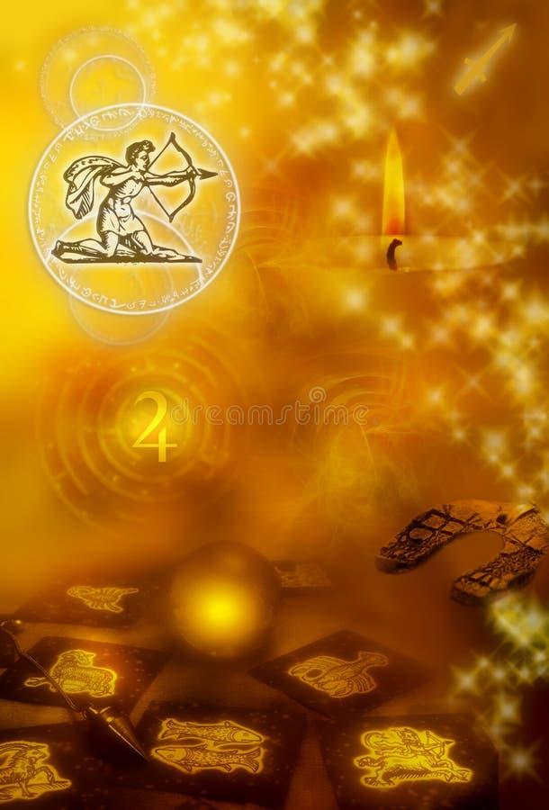 sagittarius astrologiczny znak royalty ilustracja
