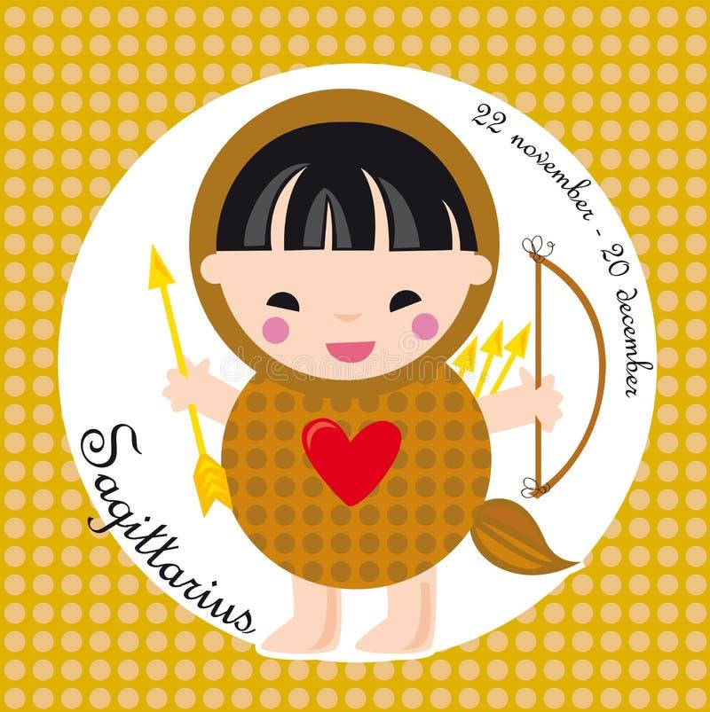 Sagittarius dello zodiaco royalty illustrazione gratis