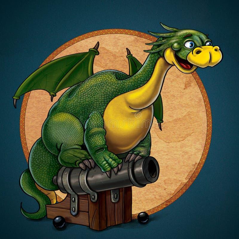 Sagittarius Green Dragon Royalty Free Stock Images