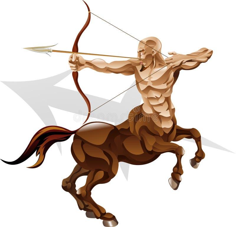 Sagittarius o sinal da estrela do archer ilustração stock