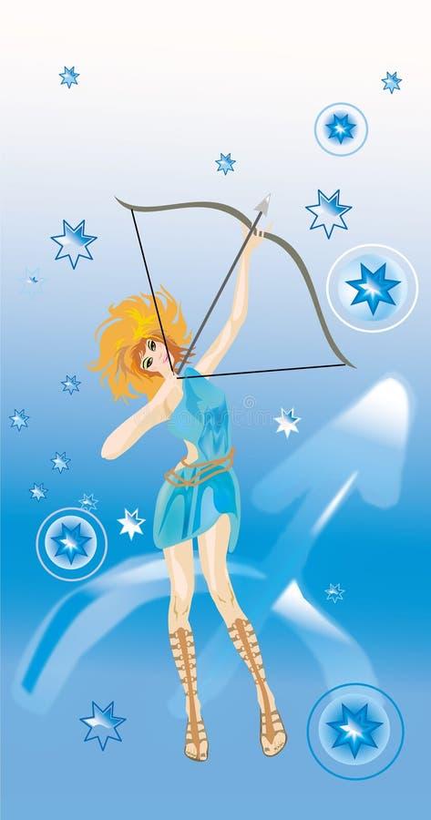 Sagittarius (segno di zodiaco) illustrazione vettoriale