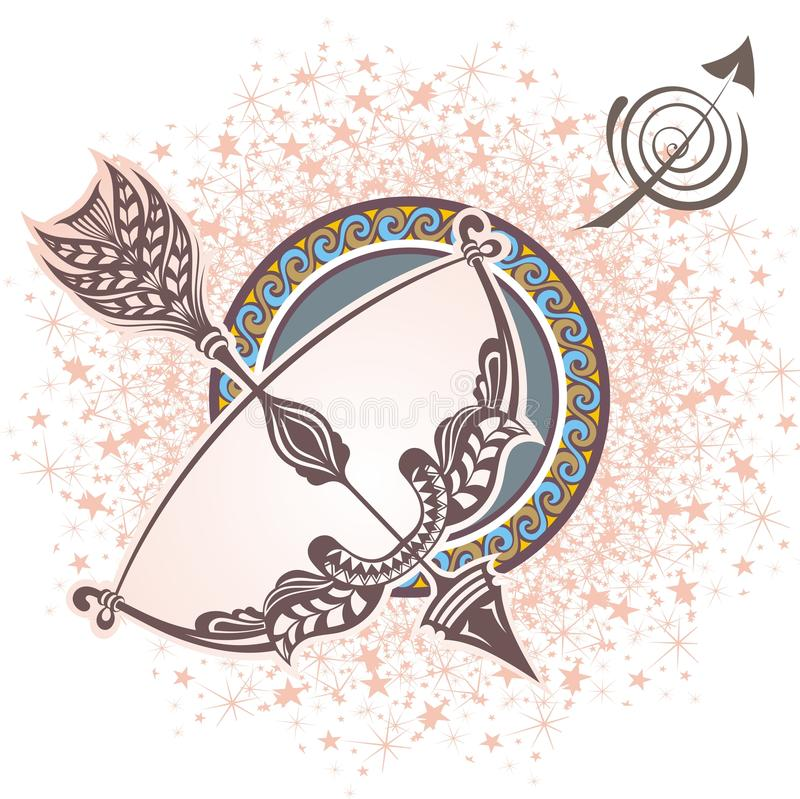 sagittarius Sinal do zodíaco ilustração royalty free