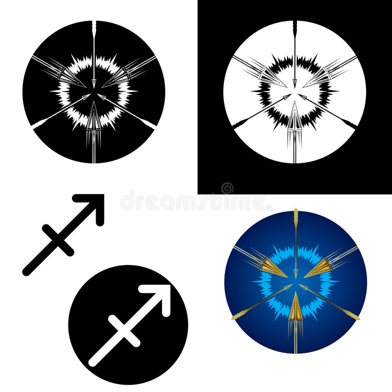 Sagittarius zodiac signs royalty free stock images