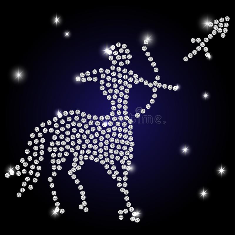 Sagittarius zodiaka znak ilustracja wektor
