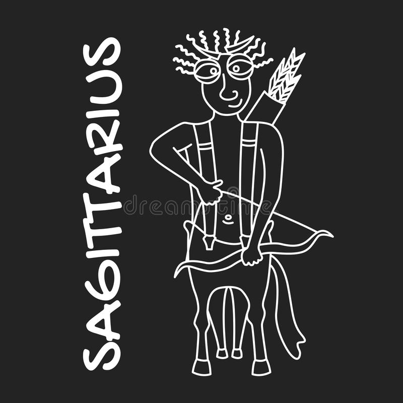 Sagittarius zodiaka znak dla horoskopu w wektorze EPS8 obraz stock