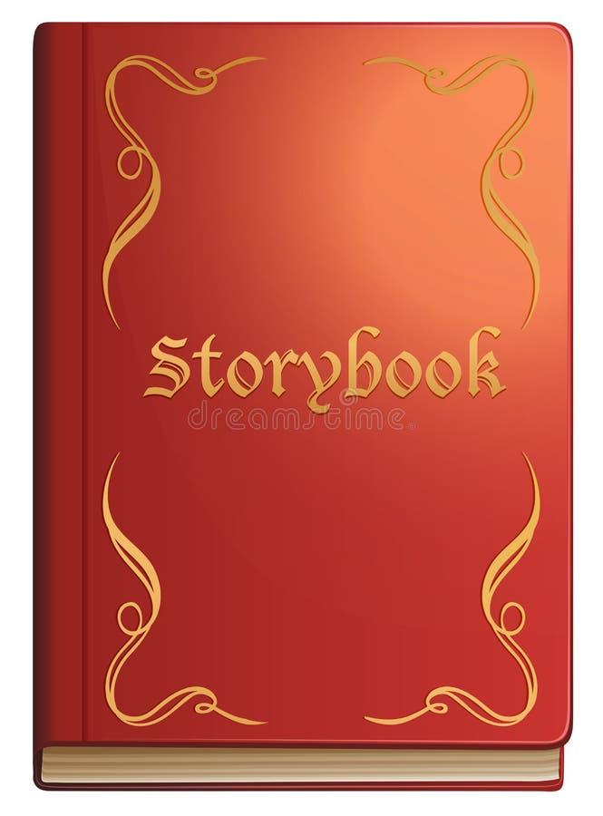 Sagobok med röda räkningar royaltyfri illustrationer