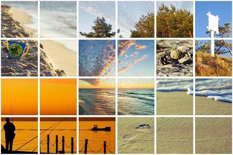 sagolik baltisk collage royaltyfria foton