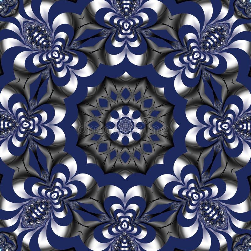 Sagolik fractalbakgrund Du kan anv?nda det f?r inbjudningar, anteckningsbokr?kningar, telefonfallet, vykort, kort, keramik, matto stock illustrationer