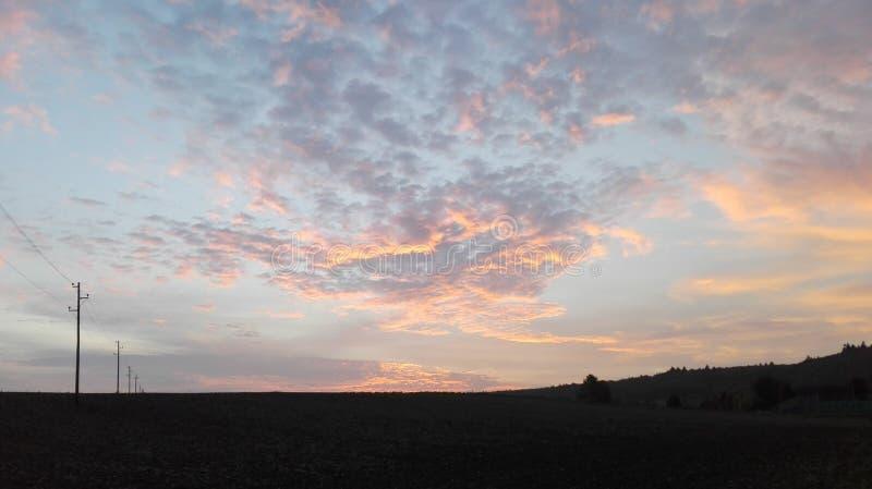 Sagolik himmel 8 arkivfoto