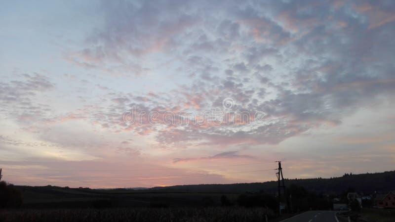 Sagolik himmel 5 arkivbilder
