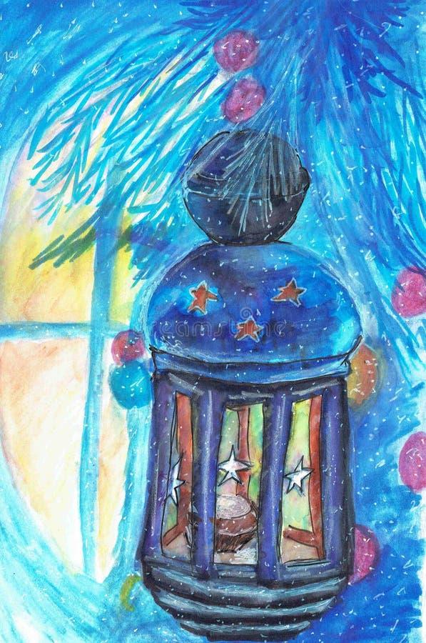"""Sagolik lykta för vinter Ð-¡ каз,½ арь Ð FÖR ¾ Ð FÖR """"Ð FÖR ¹ Ñ FÖR ‹Ð FÖR ½ Ñ FÖR Ð-¾ з,¹ FÖR ¾ Ð FÖR иÐ-¼ Ð ‡ ÑŒ FÖR ¾  vektor illustrationer"""