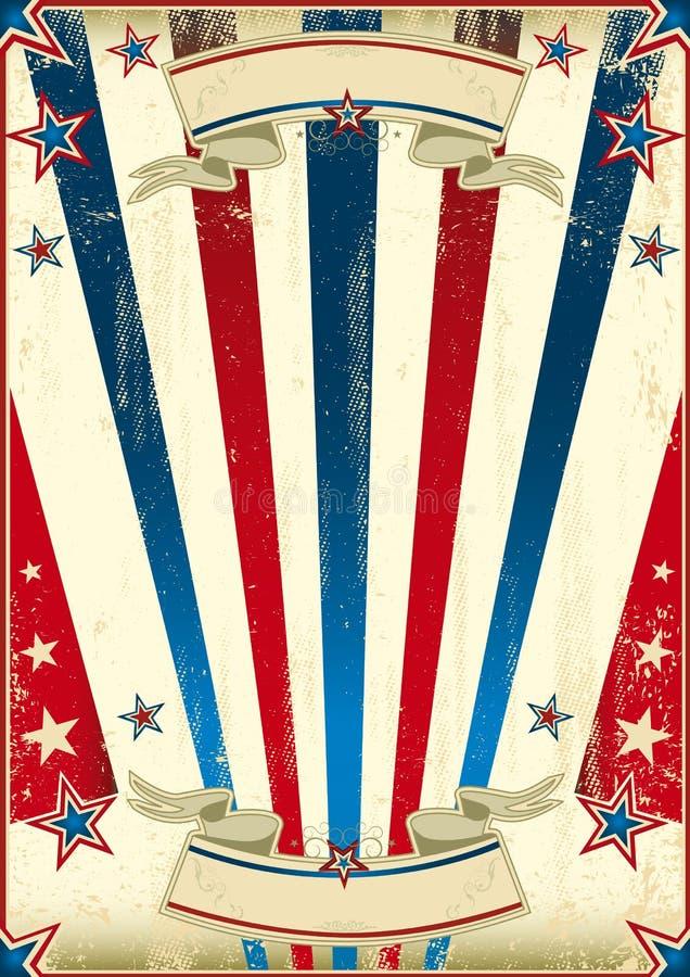 Sagolik USA-bakgrund royaltyfri illustrationer