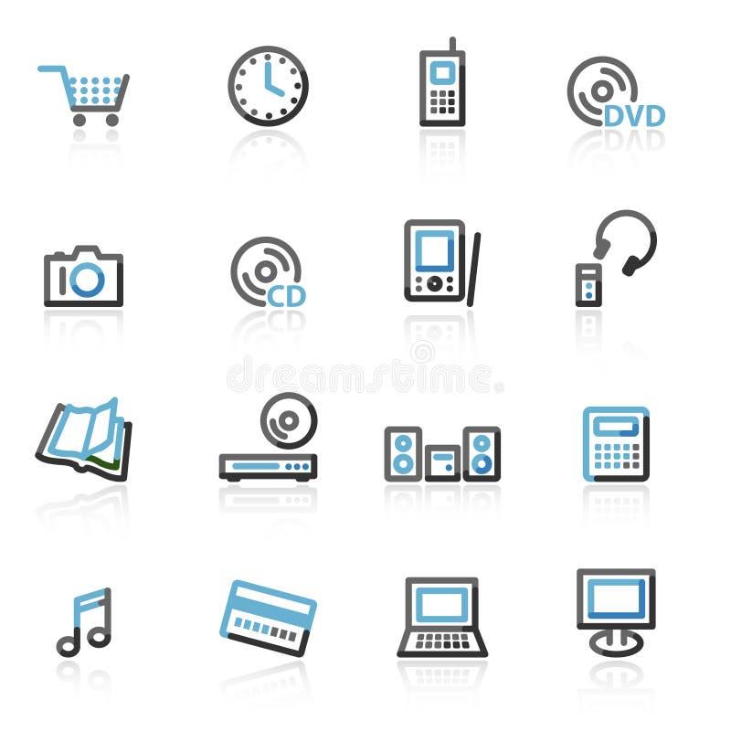 Sagomi le icone di Web di elettronica