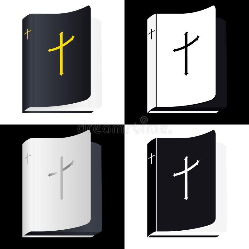 Sagrada Biblia Pictograma del libro Fije los iconos del vector libre illustration